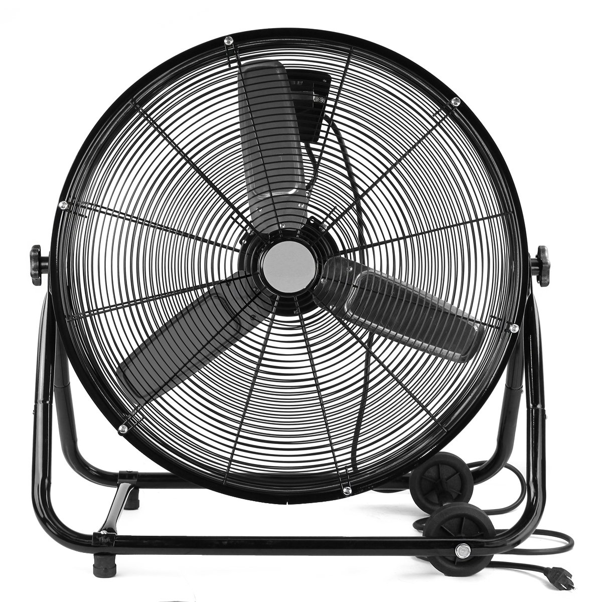 XtremepowerUS 24″ Inch Heavy Duty Rolling Velocity Drum Floor Fan