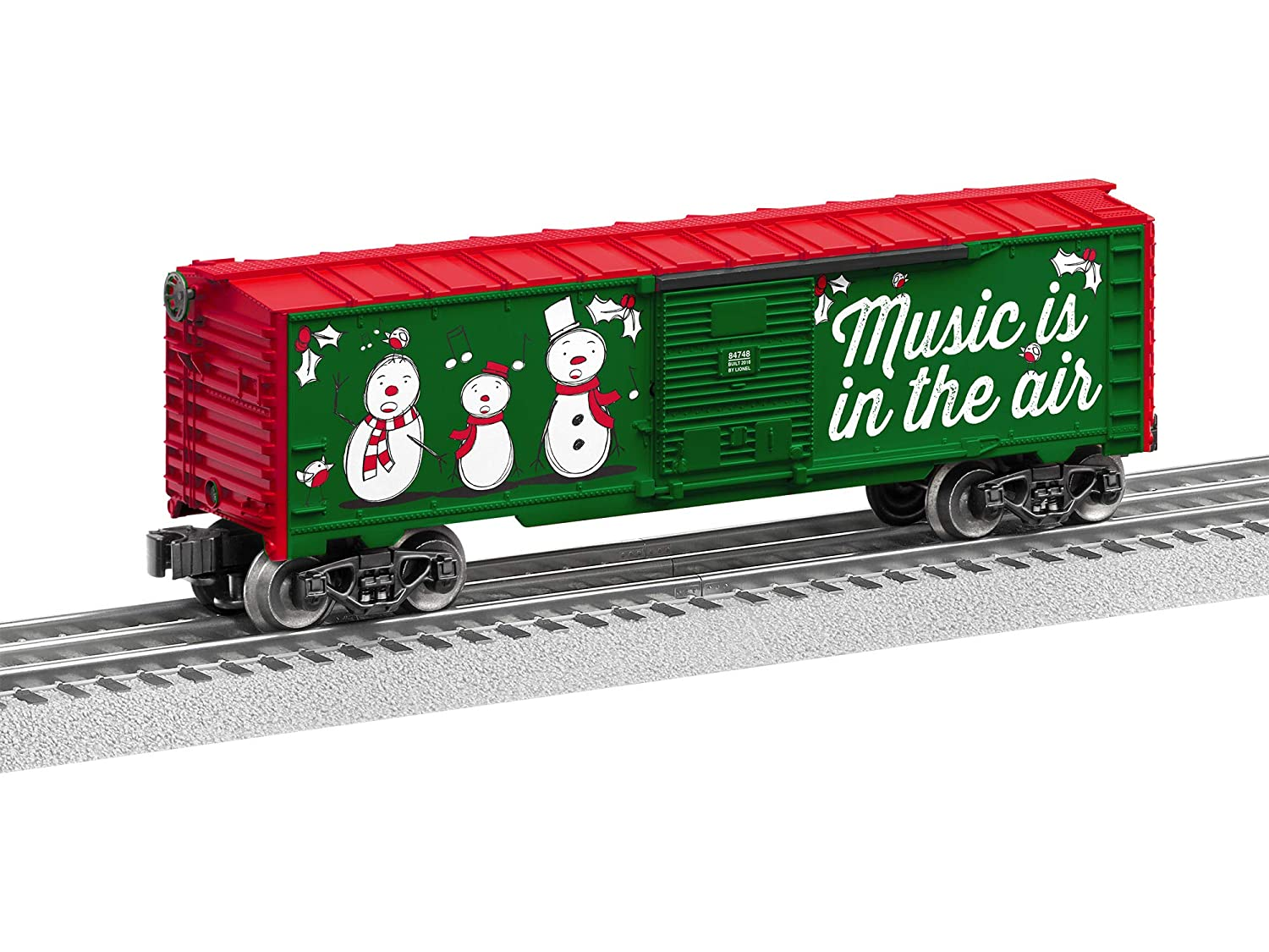 Lionel 684748 Christmas Music Boxcar #18 O Gauge Red White Green Black