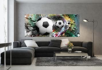Forwall Fototapete Poster Vlies Tapete Fussballe In 3d Puzzle Tunnel Vep 250cm X 104cm Photo Wallpaper Mural Amf3381vep Sport Fussball Puzzle 3d