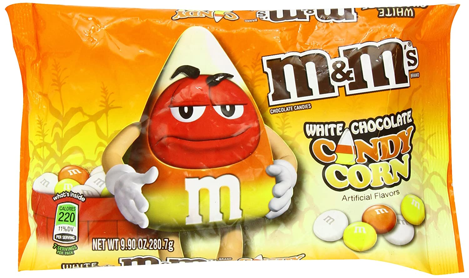 Amazon Com M M S Candy Corn White Chocolate Candies 9 9 Oz