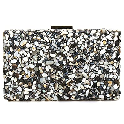 Elegant Sparkling Glitter Evening Clutch Bags Bling Evening Handbag Purses  For Wedding Prom Bride (Black 341bbbba97d73