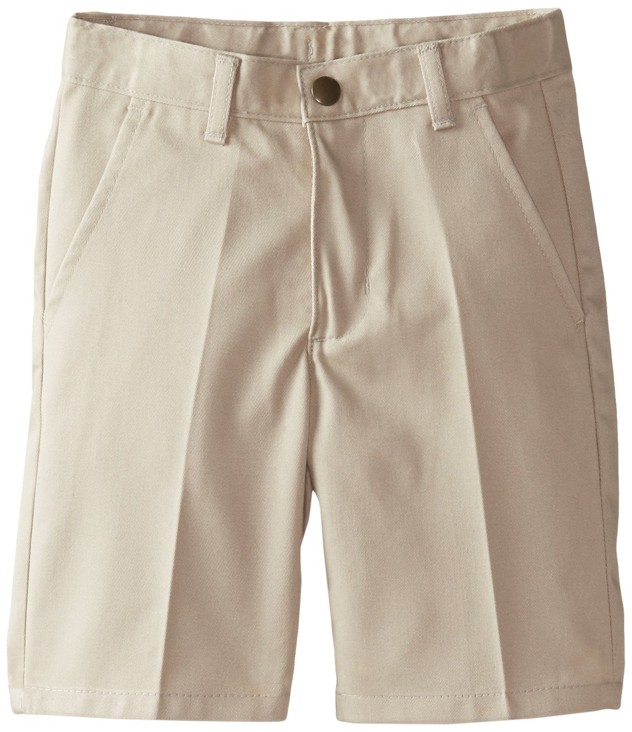 IZOD Little Boys' Flat Front Short Slim, Khaki, 5 Slim