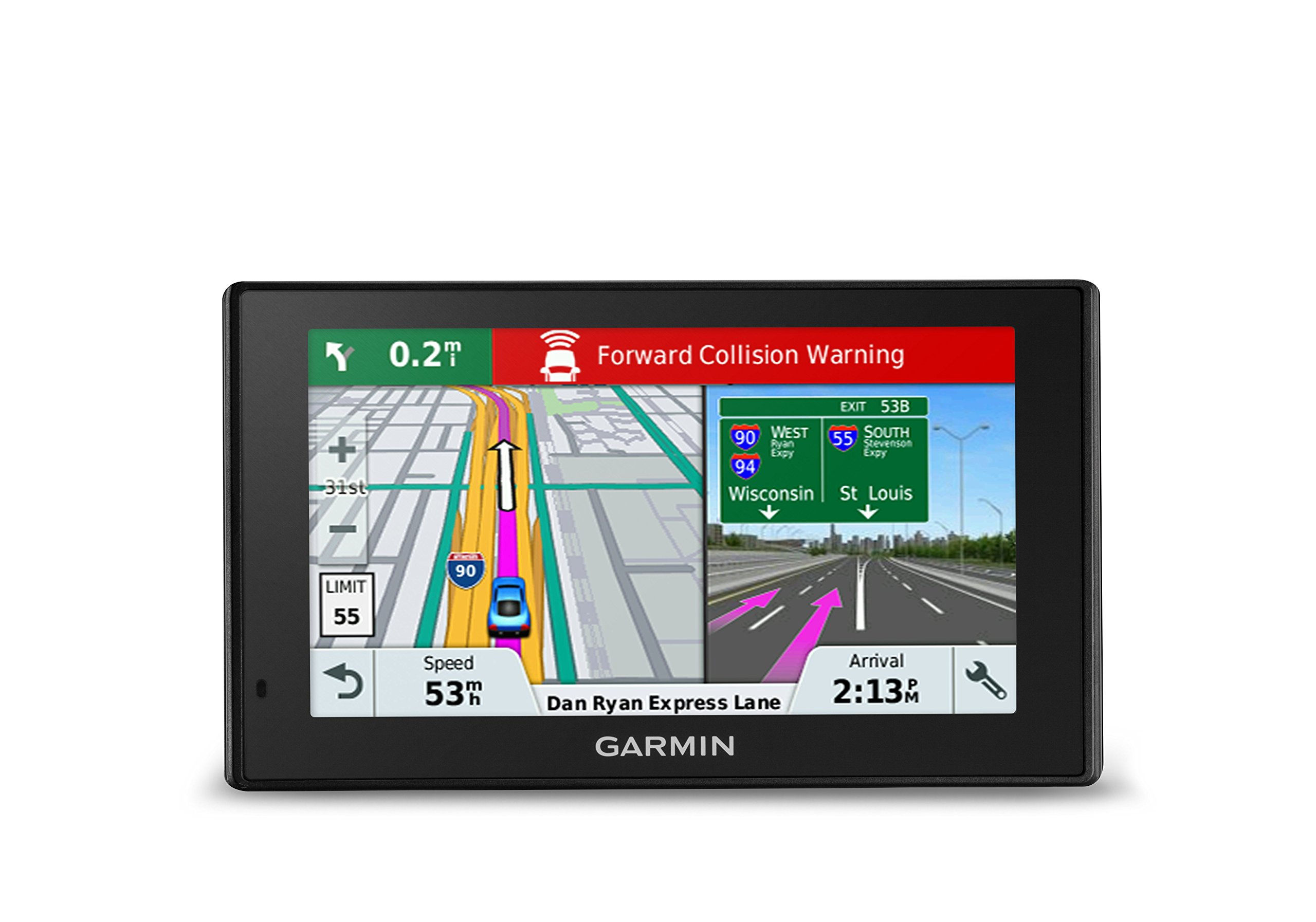 Garmin DriveAssist 51 NA LMT-S w/Lifetime Maps/Traffic, Dash Cam, Camera-assisted Alerts, Lifetime Maps/Traffic,Live Parking, Smart Notifications, Voice Activation by Garmin