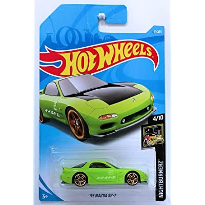 Hot Wheels 2020 50th Anniversary Nightburnerz '95 Mazda RX-7 141/365, Green: Toys & Games