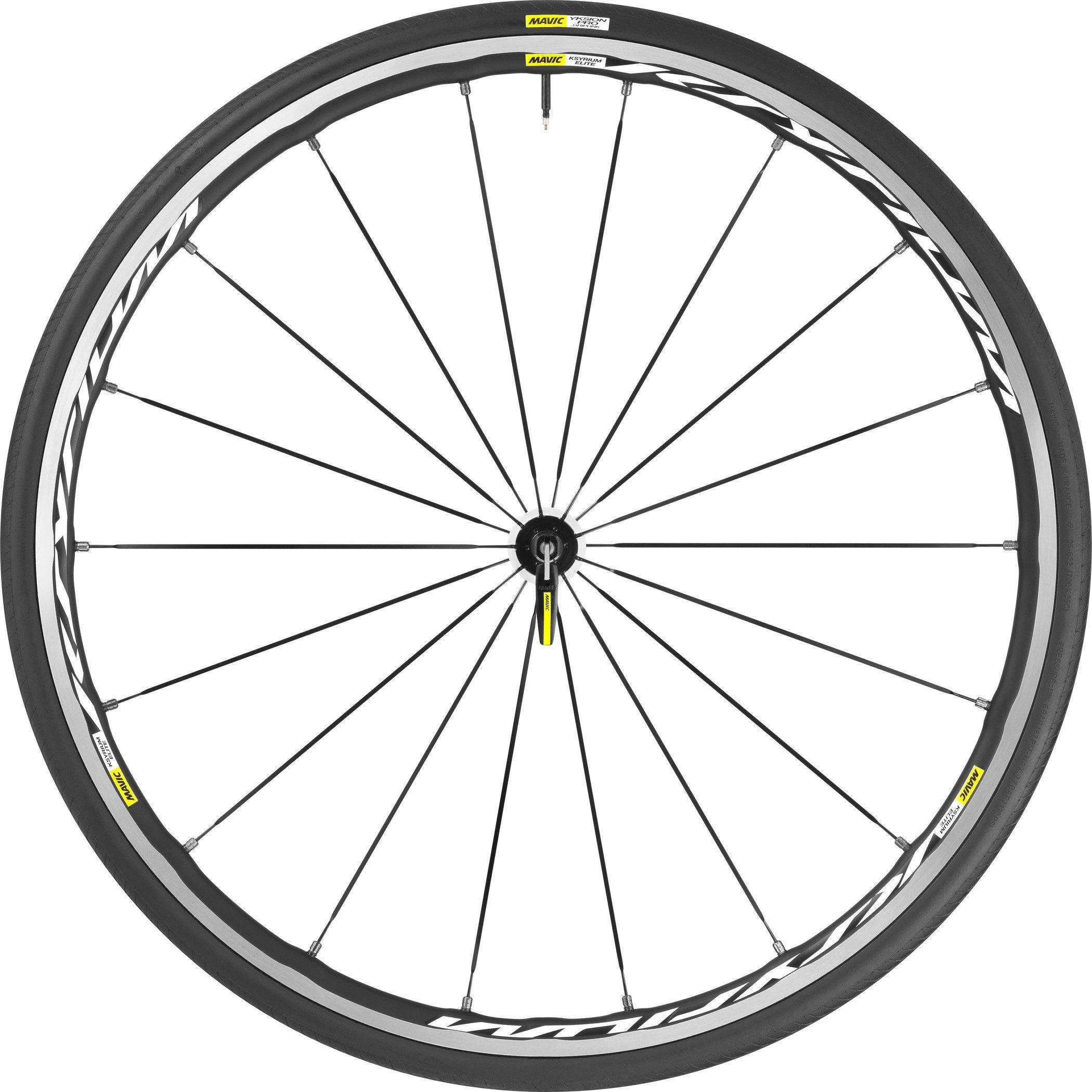 2016 Mavic Ksyrium Elite 25 Front Wheel and Tire System Black