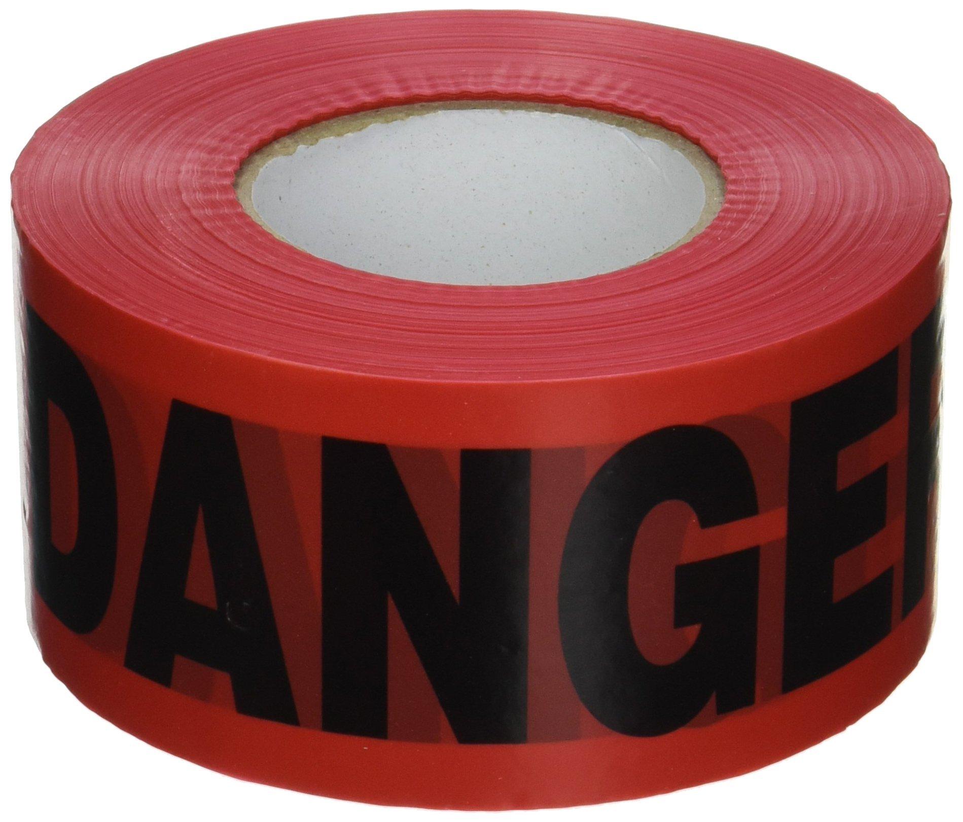 CH Hanson 1000 ft. Red Danger Barricade Tape 2 mil