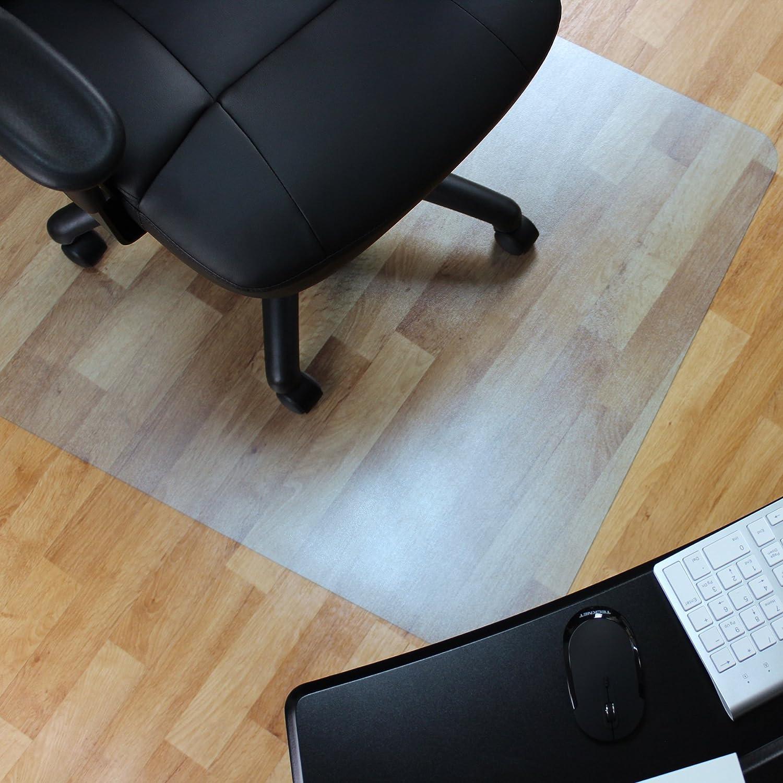 """Marvelux 48"""" x 60"""" Vinyl (PVC) Rectangular Chair Mat for Hard Floors   Transparent Hardwood Floor Protector   Multiple Sizes"""