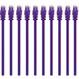 GearIT 10 Pack, Cat 6 Ethernet Cable Cat6 Snagless Patch 2 Feet - Computer LAN Network Cord, Purple - Compatible with 10 Port Switch POE 10port Gigabit