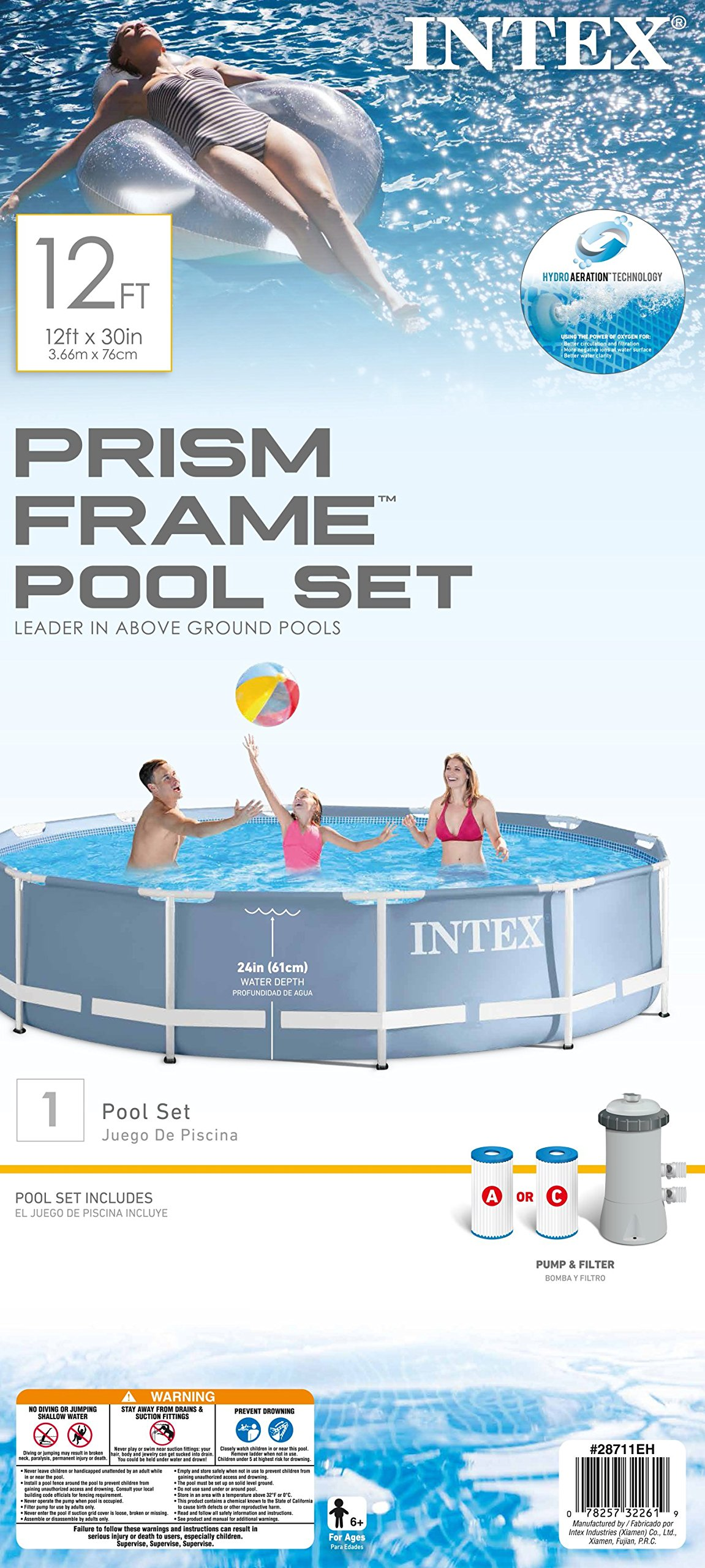 Intex 12ft X 30in Prism Frame Pool Set with Filter Pump by INTEX (Image #5)