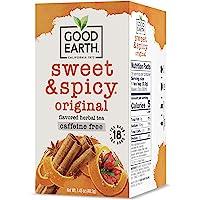 GOOD EARTH - Original Sweet and Spicy Herbal Tea Caffeine Free - 18 Tea Bags