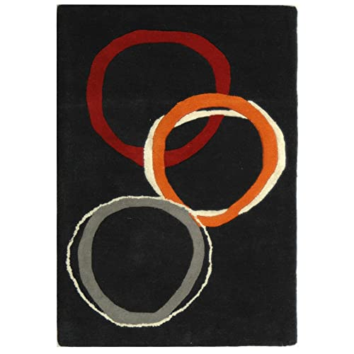 Safavieh Soho Collection SOH306A Handmade Charcoal Premium Wool Area Rug 2 x 3