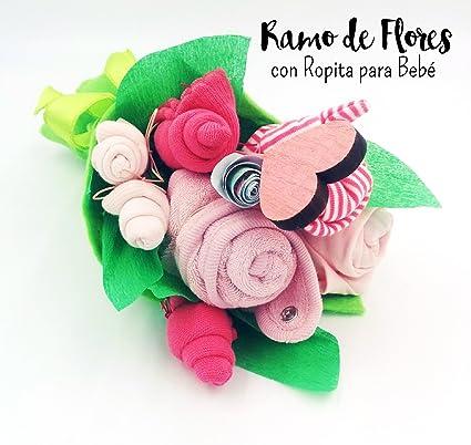 """Ramo de """"Flores"""" realizado con Ropita para Bebé (1 Body, 2"""