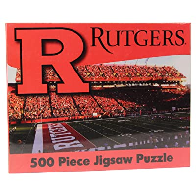 R and R Imports NCAA College Stadium Games Jigsaw Puzzle 500 Piece (Rutgers Scarlet Knights): Sports & Outdoors