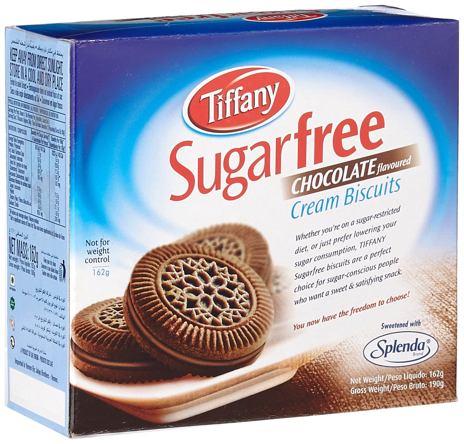 Tiffany Biscuit Sugar free Chocolate, 162g: Amazon.in: Grocery ...