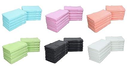 BETZ Paquete de 10 Toallas faciales Palermo tamaño 30x30cm 100% algodón Color Turquesa