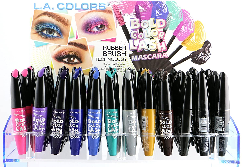 Amazon.com : L.A. COLORS Premium 12 Bold Color Lash Mascara Set of ...