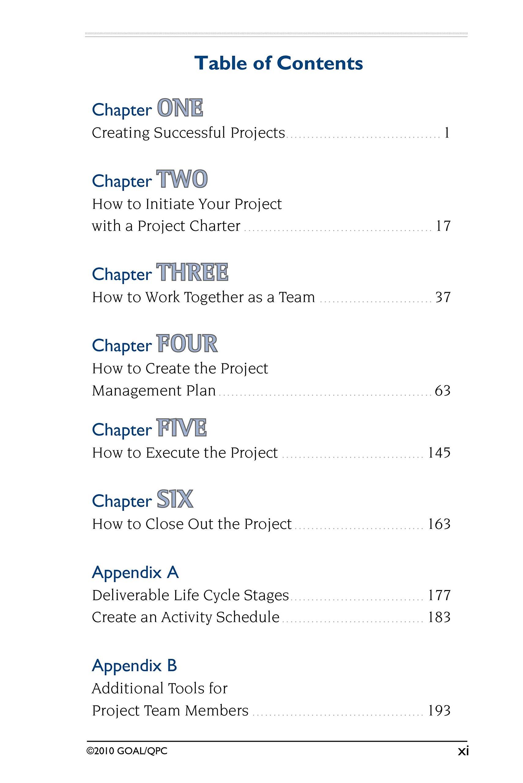 Amazon.com: The Project Management Memory Jogger (9781576811221): Karen  Tate, Paula Martin, GOAL/QPC: Books