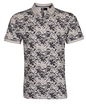 b47c8d201 URBAN REVIVAL Mens Printed Polo Collar T Shirt Tee Floral Flower Pattern  Design  Amazon.co.uk  Clothing