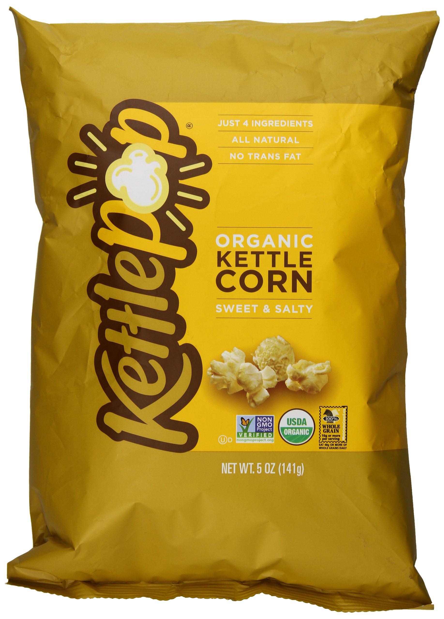 KettlePop Organic Popcorn, Sweet and Salty, 5 Ounce