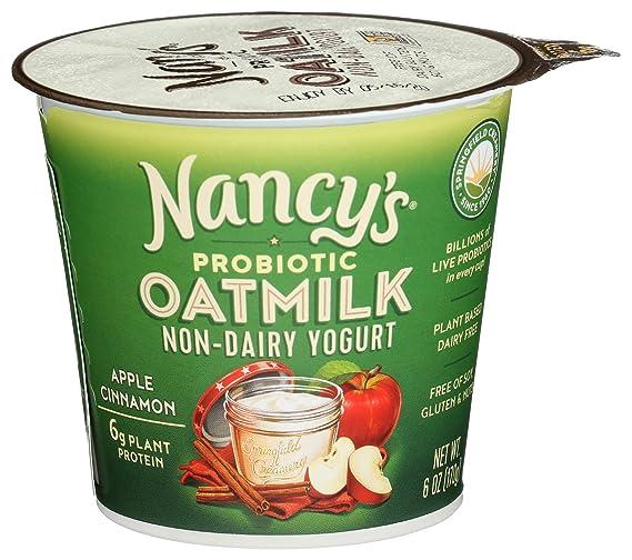 Nancys Yogurt, Yogurt Oatmilk Probiotic Apple Cinnamon, 6 Ounce