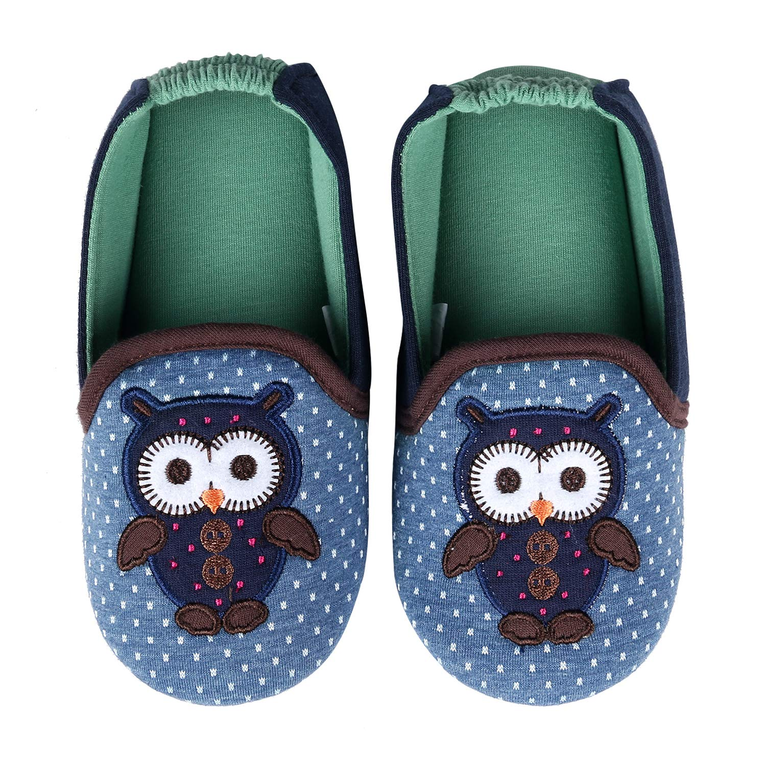 Memory Foam Toddler Girl Slippers Winter Warm Soft Sole Owl Cotton House Slippers