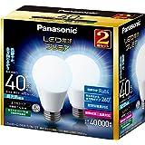 パナソニック LED電球 プレミア E26口金 電球40W形相当 昼光色相当(4.4W) 一般電球・全方向タイプ 2個入 密閉形器具対応 LDA4DGZ40ESW2T