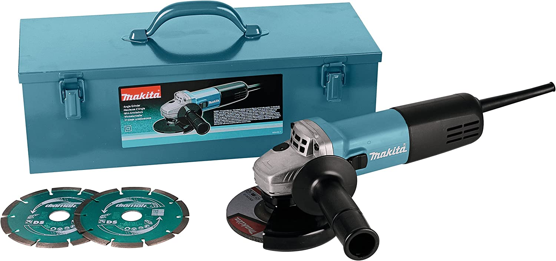 Makita 9558HNRGK3 Miniamoladora 125mm 840W con 2 discos de ...