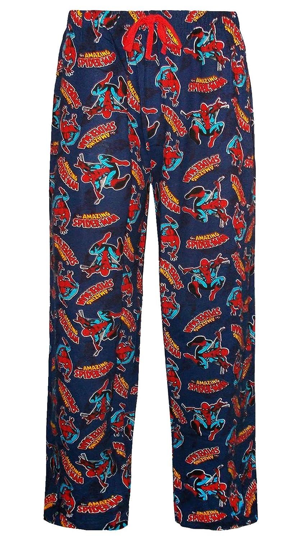Marvel - Pantalón de Pijama - para Hombre Azul Small: Amazon.es ...