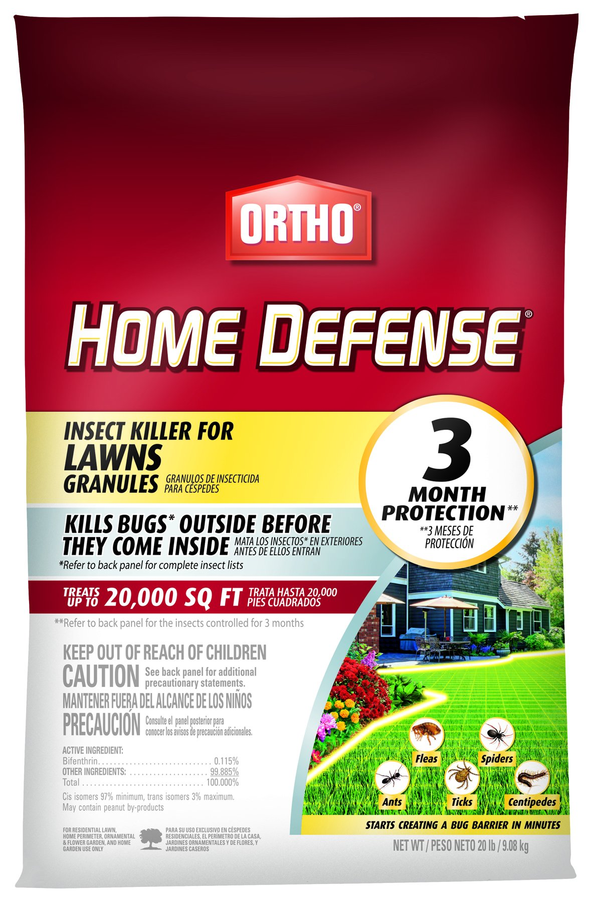 Ortho 0167210 Home Defense Lawns Granule Insect Killer, 20 LB (Old) by Ortho