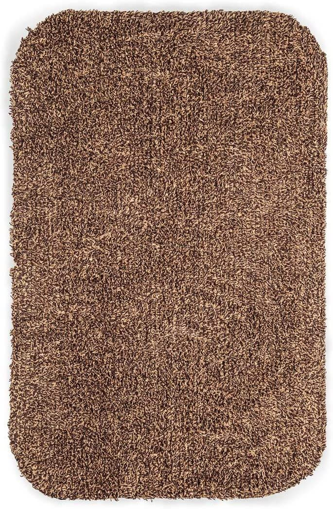 Medium Microfiber Mud Rug With Non-Skid Backing, 19 x 29 – Brown
