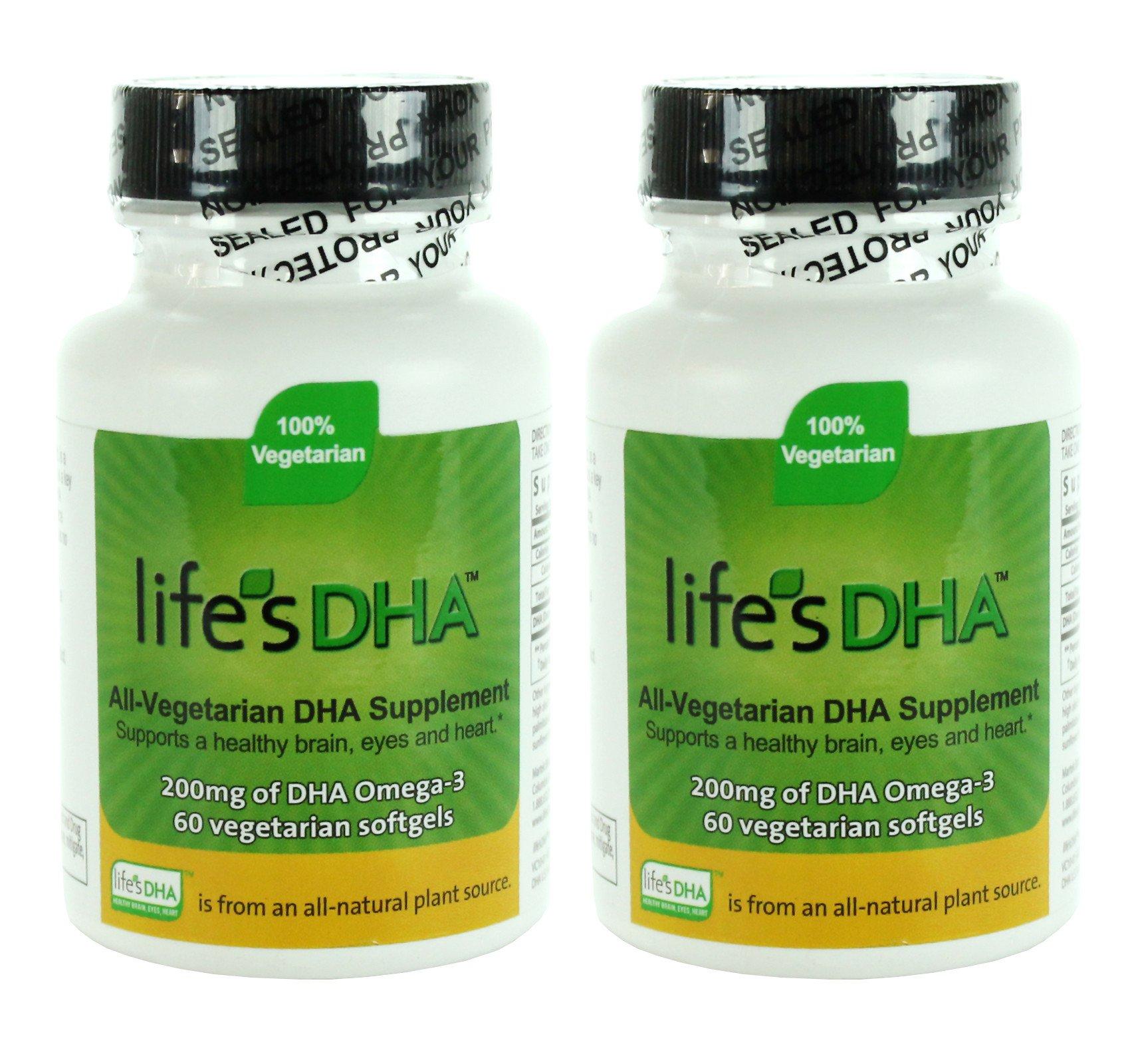 Martek DHA 200 mg de la vida all-vegetarian softgels, 60 Count, 2