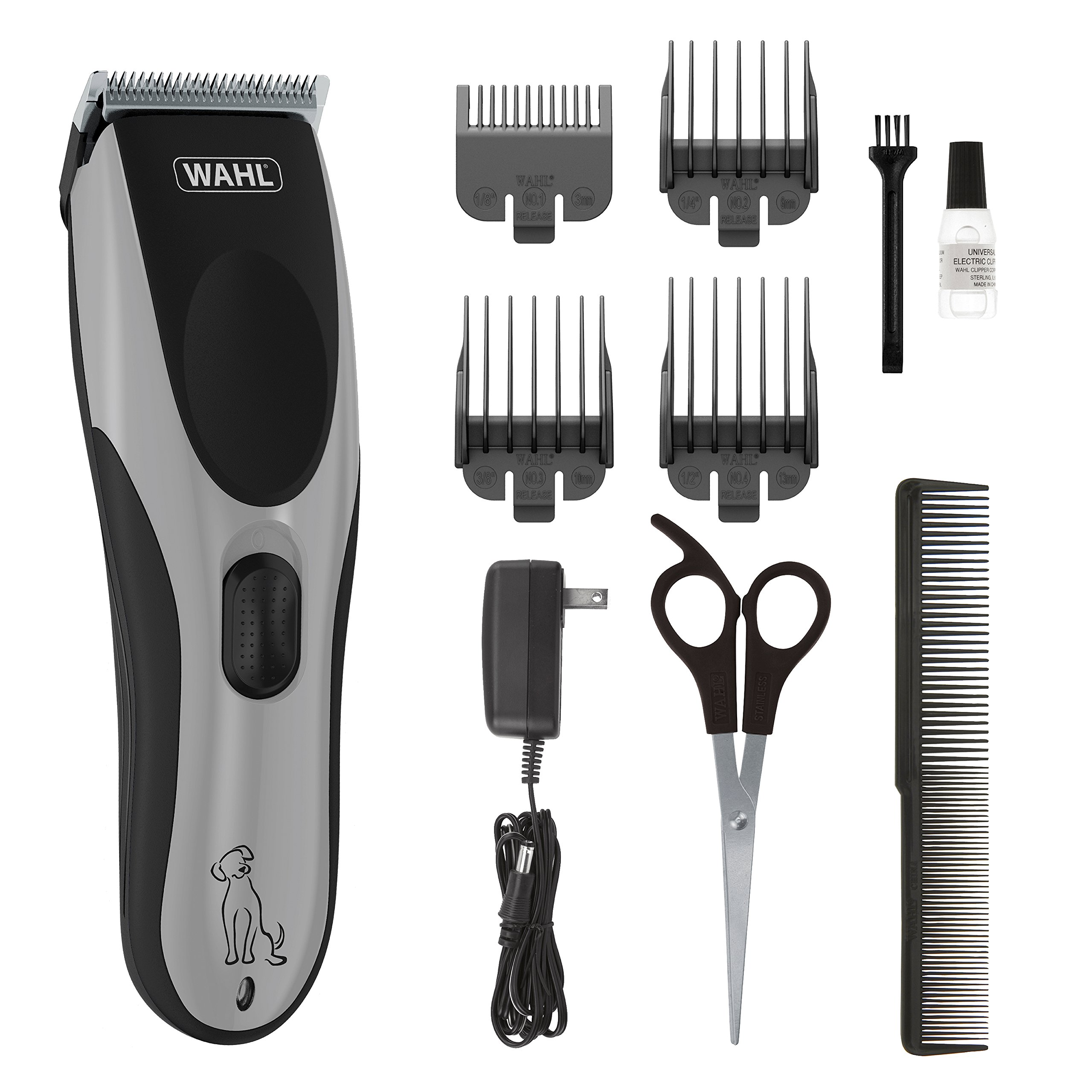 Wahl Easy Pro Pet Rechargeable Dog Grooming Kit - Quiet Low Noise Heavy-Duty Electric Dog Clipper for Dogs & Cats with Thick & Heavy Coats - Model 9549 by WAHL