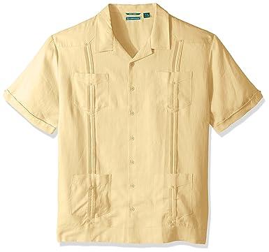 b65aab63334 Cubavera Men s Short Sleeve 100% Linen Cuban Camp Guayabera Shirt at ...