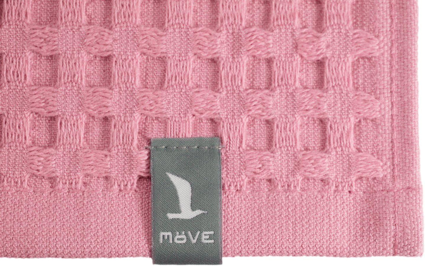 Fabriqu/é en Allemagne Rose 100/% Coton M/ÖVE Piqu/ée Gant de Toilette 40 x 70 cm