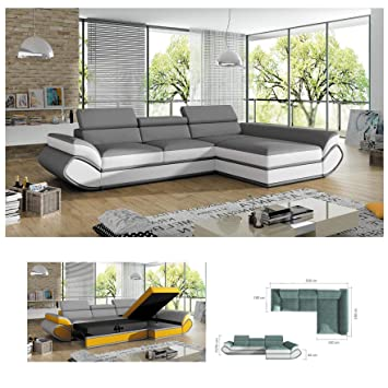 Awe Inspiring Bmf Genesis Mini Grey White Modern Corner Sofa Bed Storage Dailytribune Chair Design For Home Dailytribuneorg
