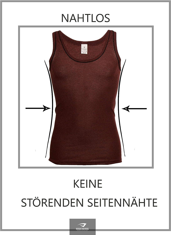 5/camisetas interiores para hombre SGS Bakis de algod/ón para ropa de negocios no se deforman sin costuras sin costuras laterales de tirantes acanaladas