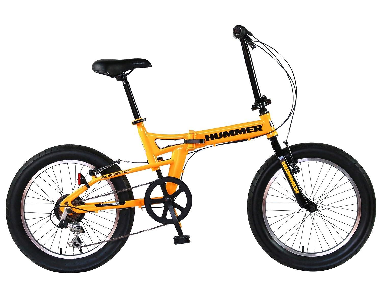 HUMMER(ハマー) FDB206FAT-BIKE 20インチ 極太3.0タイヤ 折りたたみ式 迫力ある自転車 シマノ製6段変速/前後Vブレーキシステム 13284 B01NAHBAN6 イエロー イエロー