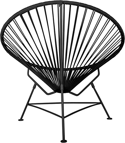 Innit Designs Innit Chair, Black Weave on White Frame