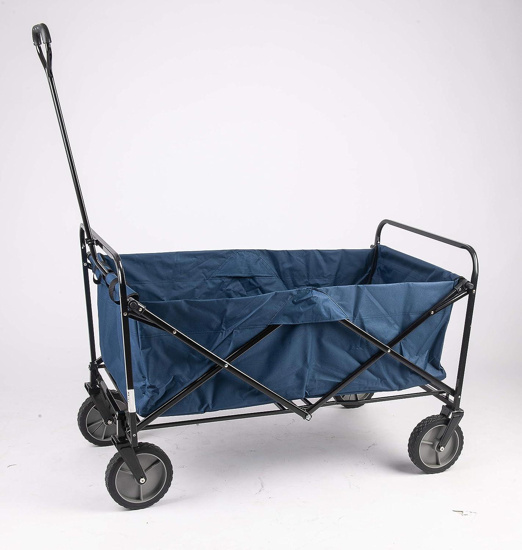 Grezone Folding Wagon Cart Outdoor Utility Wagon Heavy Duty Folding Garden Portable Hand Cart