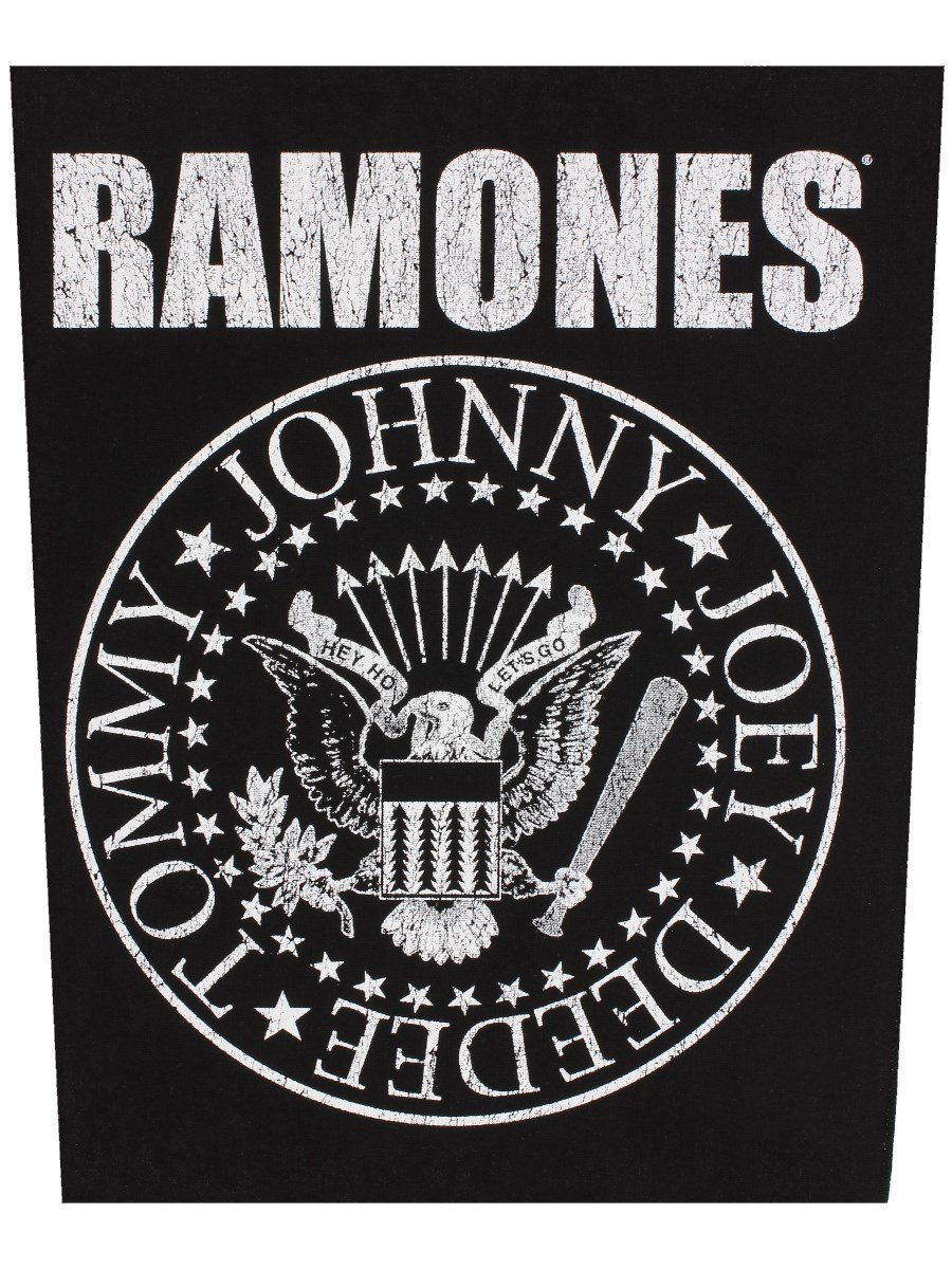 Ramones Classic Seal Black Back Patch razamatazz