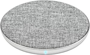 Ventev Wireless Charger Qi Chargepad+ | Fast Charging Wireless Charge Pad | Universally Compatible with Apple (7.5W) and Samsung (10W), Works with All Qi Enabled Devices | Grey (Single)