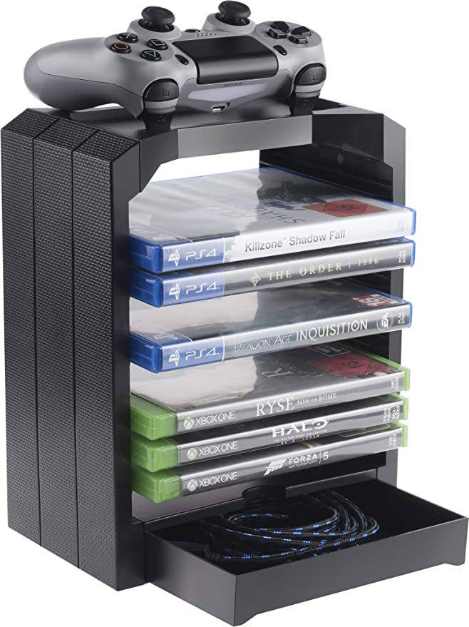 Geekhome - Torre de Almacenamiento Universal para 10 Juegos: Amazon.es: Electrónica