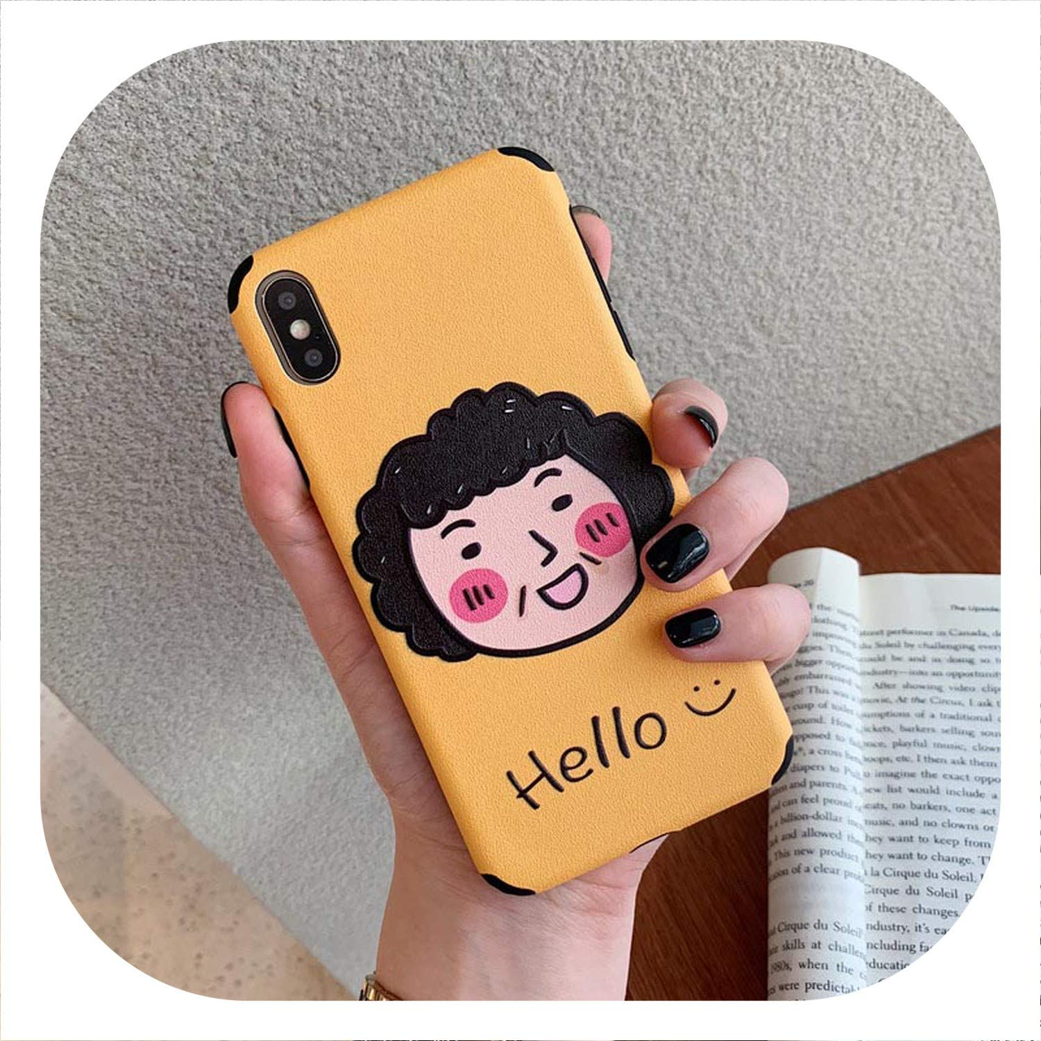 Amazon com: Cute Cartoon Lovers Phone Case for Phone 7 Case for
