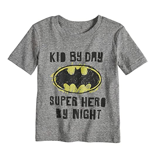 5efe075d3 Amazon.com: Jumping Beans Toddler Boys 2T-5T DC Comics Batman Heathered  Graphic Tee: Clothing