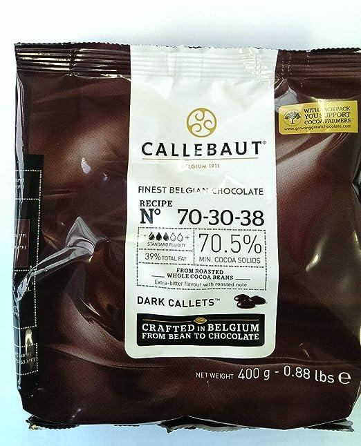 El Mejor Chocolate Negro Belga en bolsa de 400g- 70.5% de Cacao Solido