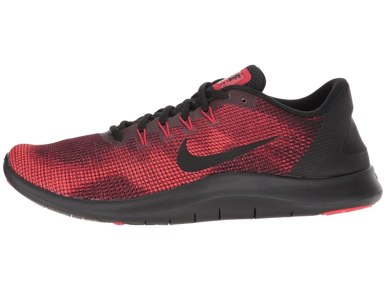 Nike Herren Laufschuh Flex Run 2018, Zapatillas de Running para Hombre 45 EU|Multicolor (Black/Black/University Red/Team Red 008)