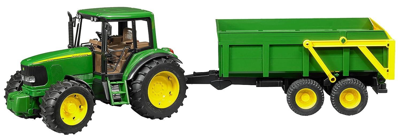 Bruder Tractor John Deere con remolque