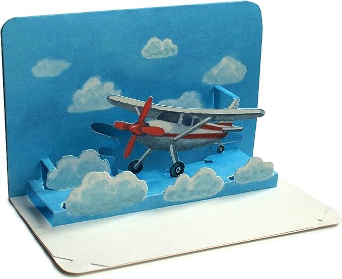 AVIÓN Pop-Up / 3 D tarjeta doblada desde un avión pequeño - ideal ...