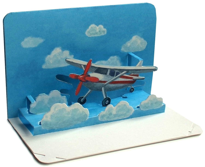 'Solo Volare è bellissimo: Pop Up della carta/3D della piegatura della carta di un piccolo aereo–Ideale per Viaggi Buono o buono come della scheda per un volo/vacanza Jens Gollnow