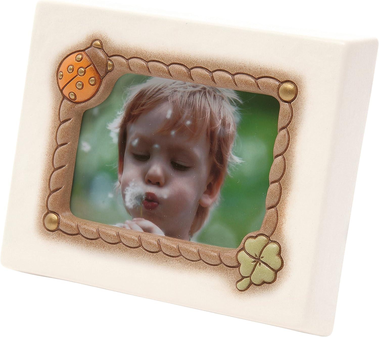 Unico THUN C1968A80 Cornice Portafoto da Tavolo Medio-Formato 13x9 cm-Color Avorio-Ceramica